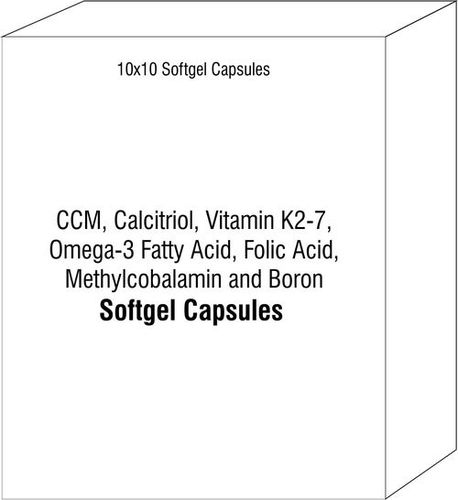 CCM Calcitriol Vitamin K2-7 Omega-3 Fatty Acid Folic Acid Methylcobalamin and Boron Soft Gelatin