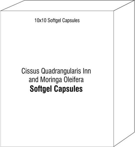 Cissus Quadrangularis Inn and Moringa Oleifera Softgel Capsules