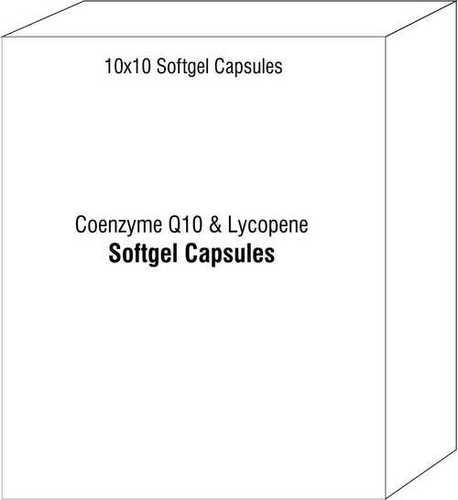 Soft Gel Capsules Of Coenzyme Q10 Lycopene