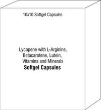 Lycopene with L-Arginine Betacarotene Lutein Vitamins and Minerals Softgel Capsules