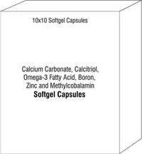 Calcium Carbonate Calcitriol Omega-3 Fatty Acid Boron Zinc and Methylcobalamin Soft Gel Capsule