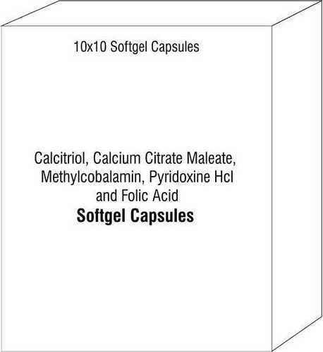 Softgel Capsules of Calcitriol Calcium Citrate Maleate Methylcobalamin Pyridoxine Hcl and Folic Acid