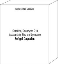 L-Carnitine Coenzyme Q10 Astaxanthin Zinc and Lycopene Softgel Capsules