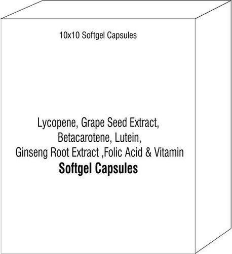 Lycopene Grape Seed Extract Betacarotene Lutein Ginseng Root Extract Folic Acid & Vitamin