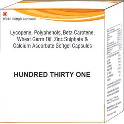 Lycopene Polyphenols Beta Carotene Wheat Germ Oil Zinc Sulphate & Calcium Ascorbate