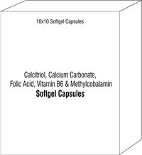 Calcitriol Calcium Carbonate Folic Acid Vitamin B6 & Methylcobalamin