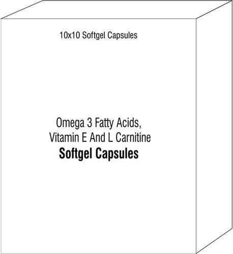 Omega 3 Fatty Acids Vitamin E And L Carnitine Softgel Capsules