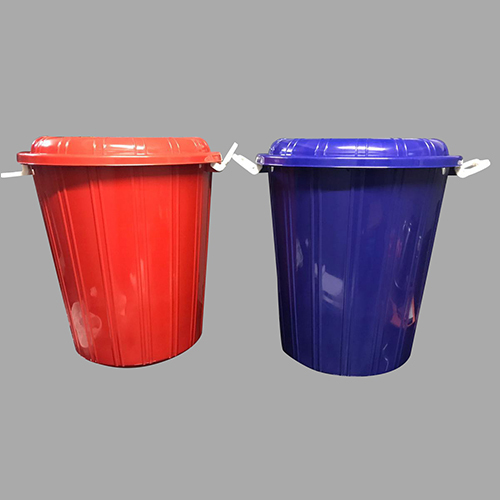 Plastic Storage Bucket Drum Bin With Lid