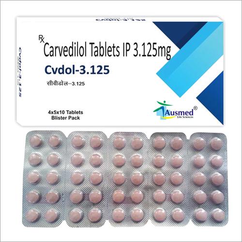 3.125 MG Carvedilol Tablets IP