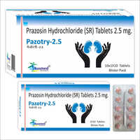 2.5 MG Prazosin Hydrochloride Tablets