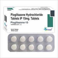 Pioglitazone Hydrochloride Tablets IP 15 MG/Pioglitazone-15
