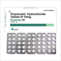 10 MG Propranolol Hydrochloride Tablets IP