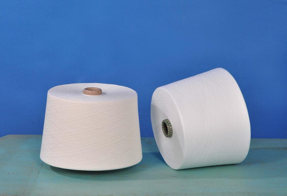 30s1 virgin raw white Polyester Spun Yarn