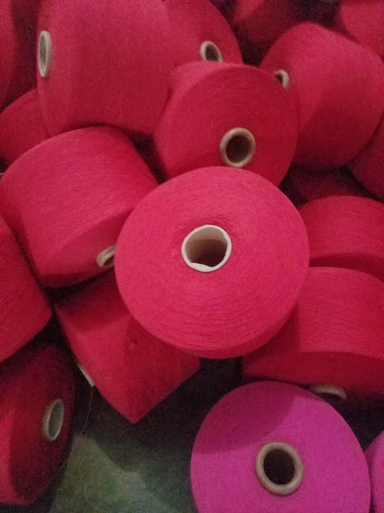 20s/1 cheap price knitting yarn dope dyed 100% Polyester Spun Yarn for socks fabric