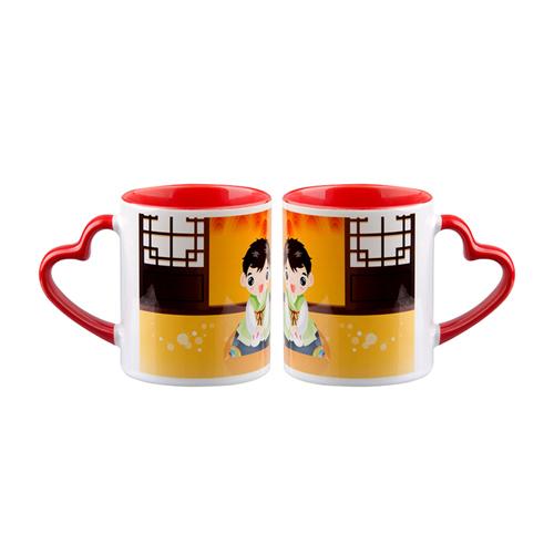 Sublimation Mug (Mug Heart Handle)