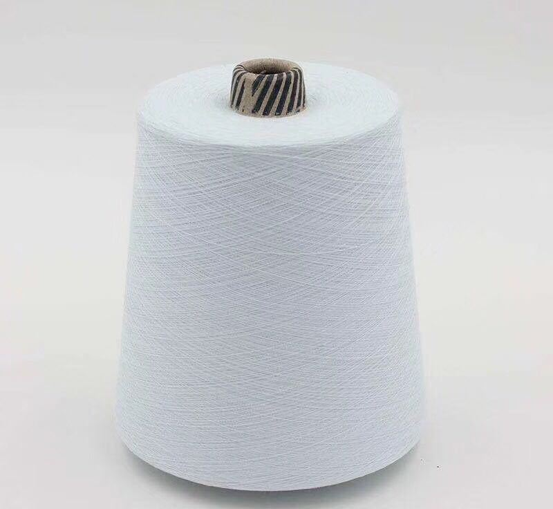 socks yarn fabric yarn 40s 30s 20s 100% Polyester Spun Yarn virgin for socks raw white yarn bleach