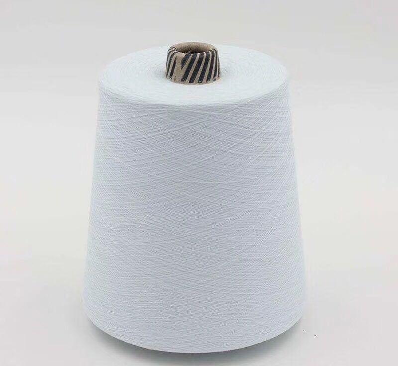 socks yarn fabric yarn 40s 30s 20s 100% Polyester Spun Yarn virgin for socks raw white yarn bleach