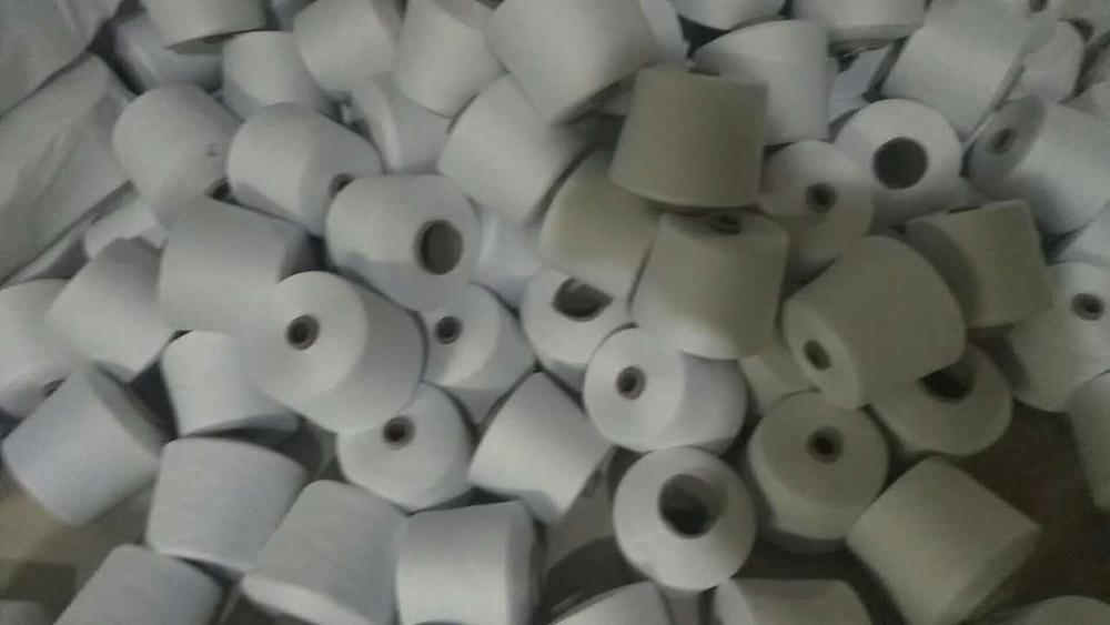 30s1 raw white virgin 100% Polyester Spun Yarn