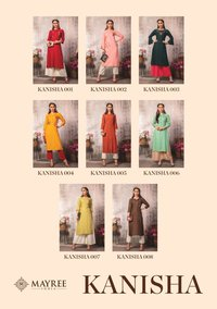 Slub Rayon With Embroidery Straight Kurti
