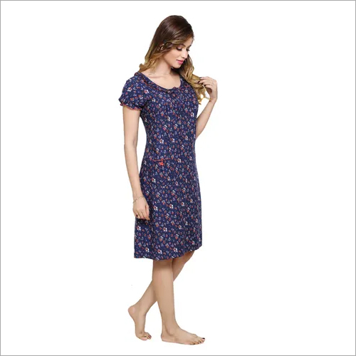pdpm ladies rayon printed nighty short nighty