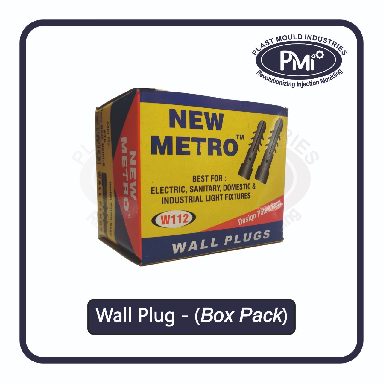 Wall Plugs (Square Collar)