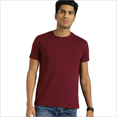 Mens Half Sleeve Plain T-Shirt