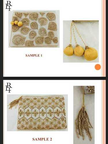 Fabric Embroidery Clutches