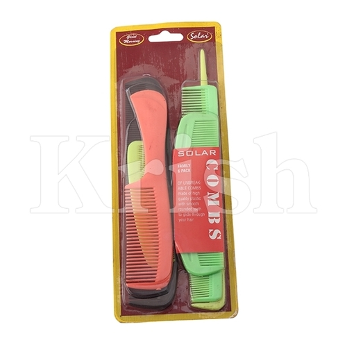 Pocket Comb Set - FAMILY PACK 6 in 1