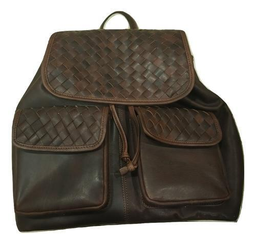 Genuine Leather Weaved Backpack