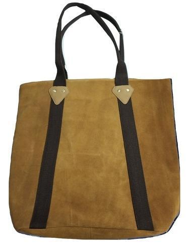 Genuine Leather Suede Tote Bag