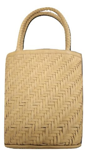 Genuine Leather Weaved Hand Bag