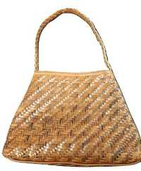 Weaved Leather Hand Bag
