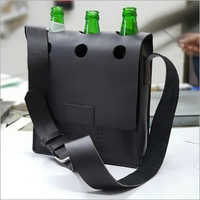 Leather Bottle Carrier Bag