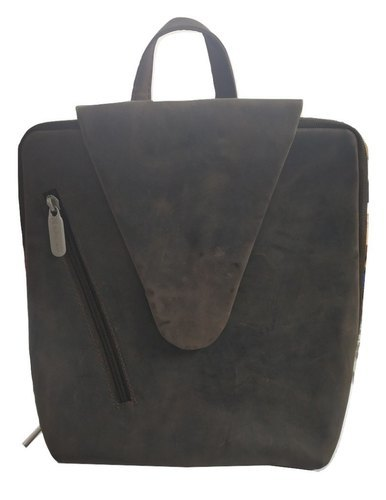 Genuine Leather Backpack Brown