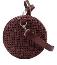 Genuine Leather Weaved Duffle Bag