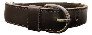 Genuine Leather Dog Collar with Leash