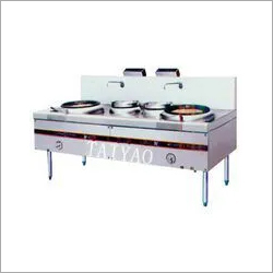 Stainless steel commercial kitchen gas stove