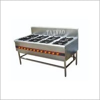 Commercial gas range with 8 Burners