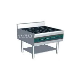 Stainless steel kitchen gas range with 4 Burners