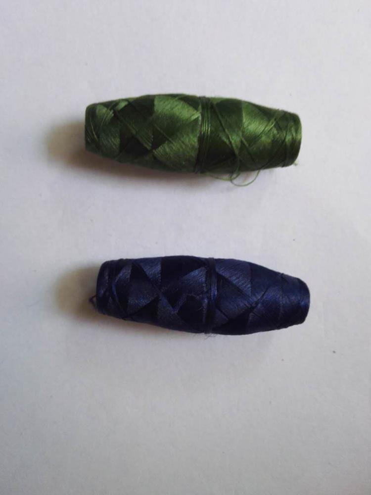 Schiffli cocoon bobbin thread