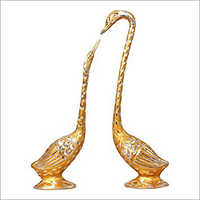 Brass Swan Showpiece
