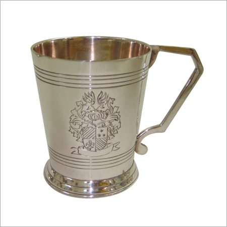 Engraved Brass Metal Mug