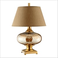 Brass Finish Metal Table Lamp
