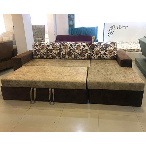 L Shape Sofa Cum Bed Wih Storage