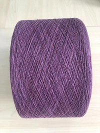 Recycled/regenerated cotton yarn for knitting glove and sock