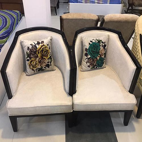 Modern Fabric High Back Club Chair