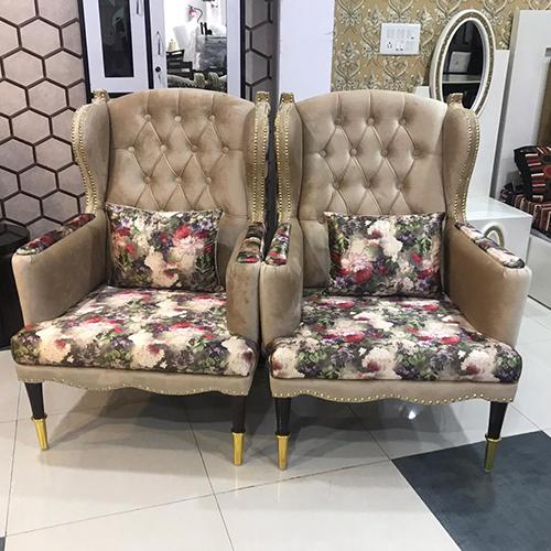 Fancy High Back Club Chair