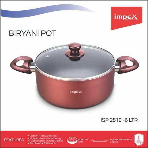 Impex ISP-2810 Nonstick Coated Aluminium Biriyani Pot