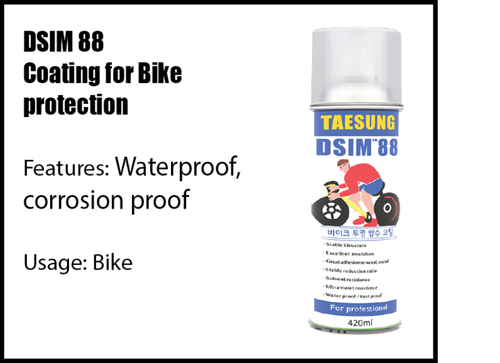 Corrosion coating for bikes