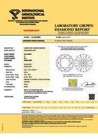 CVD Diamond 0.30ct H SI1 Round Brilliant Cut IGI Certified Stone